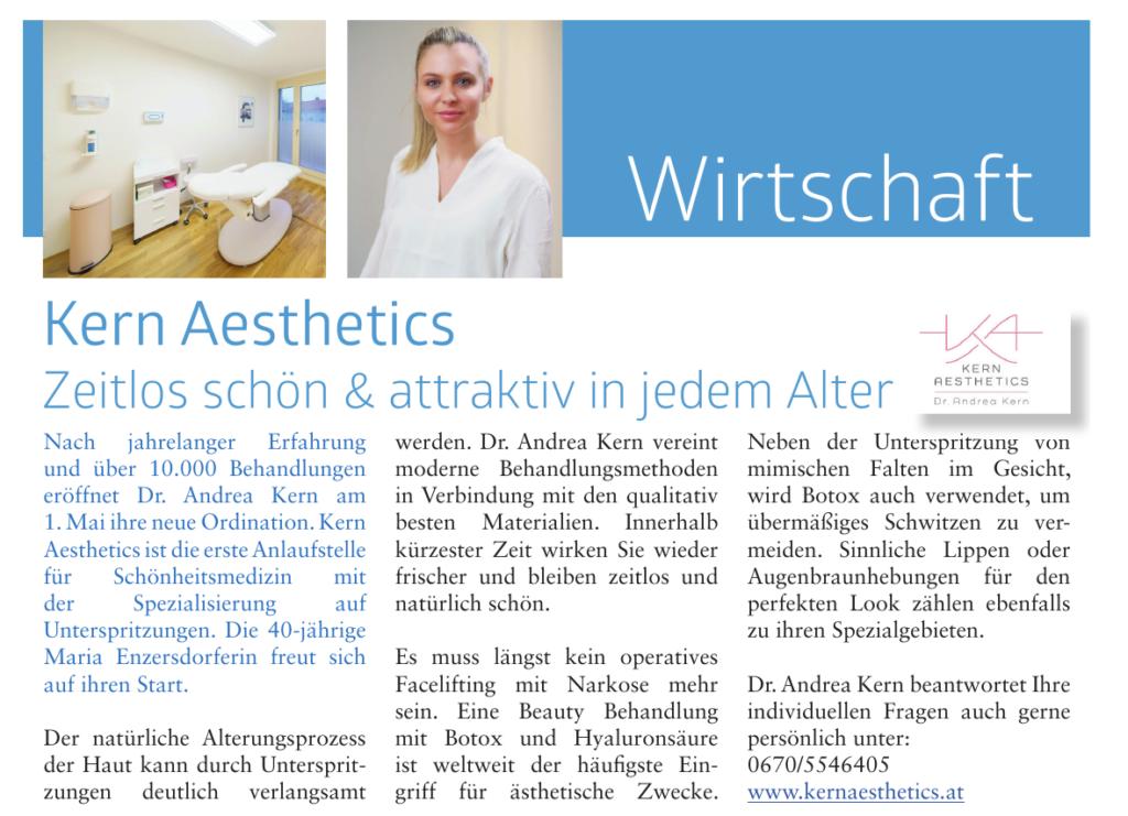 Artikel in der Gemeindezeitung Maria Enzersdorf