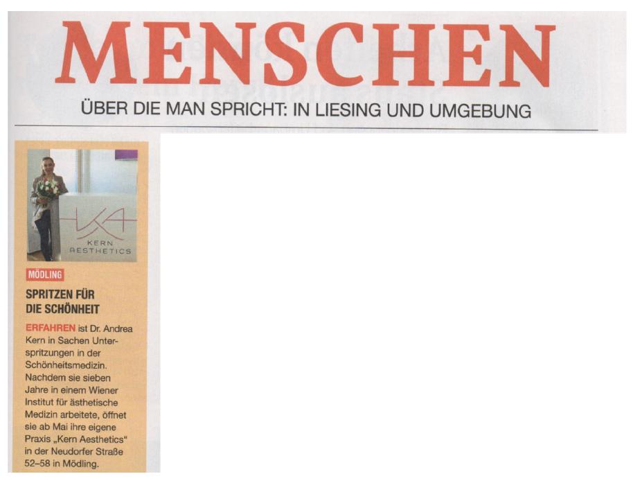 Artikel in einer Zeitung